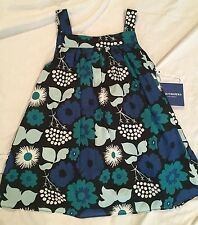 NWT Girls MARIMEKKO for Target KUKKATORI Blue Floral Sleeveless Dress, Small S