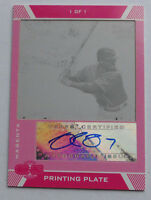 1/1 Delmon Young 2007 Topps Co-Signers Printing Plates Magenta Auto #96 1 of 1