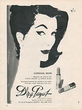 ▬► PUBLICITE ADVERT AD Dr N.G PAYOT Rouge à Lévres  René GRUAU années 1960's