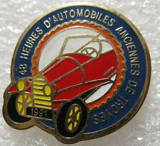 Pin's 48 Heures Automobiles Ancienne de Troyes voiture 1991 #2098
