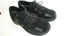 "DANSKO Black Leather/Suede Oxfords Women's Size 38 Med ""Made in Portugal"" EUC"