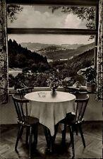 Weschnitz Odenwald Ansichtskarte 1956 Fernblick Terrassengaststätte Erbacher Hof