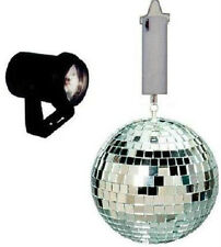 "Disco Lighting Complete Package Light 6"" Silver Mirror Ball Color lenses &motor"