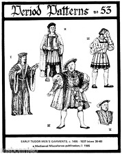 Henry VIII Early Tudor Garments Costumes - Period Patterns Sewing Pattern  53