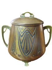 Circa 1900 Jugendstil Art Nouveau Copper Brass LARGE Covered Bowl