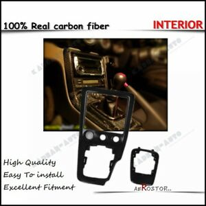 CARBON FIBER RHD RADIO & GEAR CONSOLE SURROUND (REPLACEMENT) FOR S15