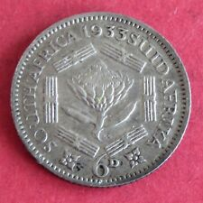SOUTH AFRICA 1933 GEORGE V SILVER SIXPENCE
