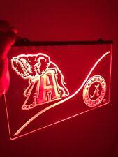 Alabama Crimson Tide Led Neon Sign for Game Room,Office, Man Cave Roll Tide!