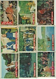 1956 Topps Davy Crockett (Orange Back) trading cards complete set 80 cards