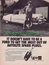 1953 Cadillac Eldorado Convertible - Autolite spark plug ad