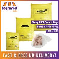 Strong HDPE Butcher/Counter Bags!   Meat/Fruit/Veg/Freezer/Food/Storage   12mu!