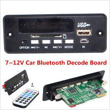 Car Bluetooth Kit MP3 Bluetooth Decode Board FM USB Module With Remote 7V-12V