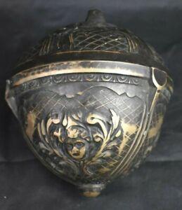 Large Antique Victorian Music Hall Brass Chandelier Counterweight - Unique!!!!