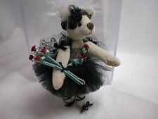 "World of Miniature Bears 3.5"" Cashmere Ballerina Bear Ashley #798 Collectible"