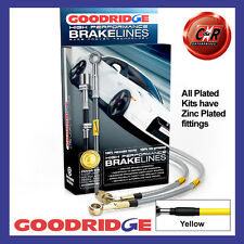Vauxhall Nova SR/GTE 83-85 Goodridge Plated Yellow Brake Hoses SVA0200-4P-YE