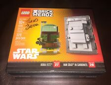 NYCC 2017 Signed LEGO BRICKHEADZ STAR WARS HAN SOLO BOBA FETT Brick Headz #2