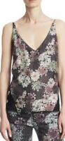 J BRAND Lucy 100% Silk Camisole  ORP: $269 Size L BNWT Sheer Black Back