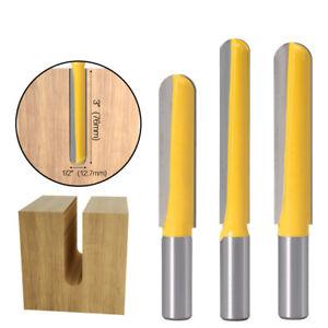 3 langen Fräser mit Radien Nutenfräser 1/2 or 12mm Schaft Holzfräser Nutfräser