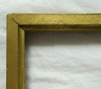 """ANTIQUE FITS 4.5"""" X 6"""" GOLD GILT WOODED PICTURE FRAME FINE ART VICTORIAN"""