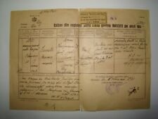 Jewish Judaica ? Romania Romanian Cluj Certificate Civil registration 1947