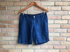"NWT The Limited Navy Blue 100% Linen Bermuda 10"" Shorts  sz 2 - $59.95 FAST SHIP"