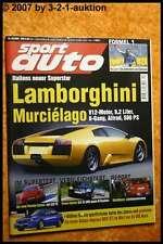 Sport Auto 10/01 SLK 32 AMG BMW M Roadster Mucielago