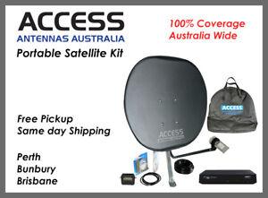 Ultimate Caravan Satellite TV Kit for 100% coverage Australia-wide- Same Day Sh