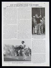 BENSON & HEDGES INTERNATIONAL GOLF OPEN PHILIPPE TOUSSAINT BOB SHEARER 1974