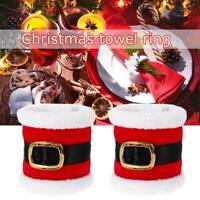 4Pcs Christmas Santa Towel Napkin Rings Serviette Holder Table Dinner Party Nice
