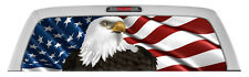 AMERICAN FLAG W/EAGLE  Rear Window Graphic perf Decal Tint print Sticker Truck
