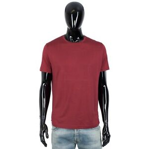 LORO PIANA 535$ Shortsleeve Crewneck Tshirt In Indian Red Cotton & Silk