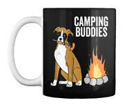 Boxer Dog Camping Buddies Funny Gift Coffee Mug