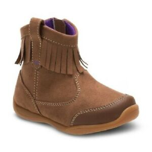 Surprize by Stride Toddler Girls' Brown Clementine Fringe Ankle Fashion Boots