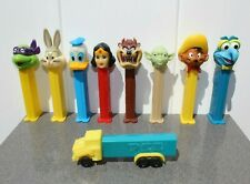 Lot of 9 Pez Dispensers- Gonzo,Bugs,Taz,Speedy,Yod a,Wonder Women,Truck,Turtle+