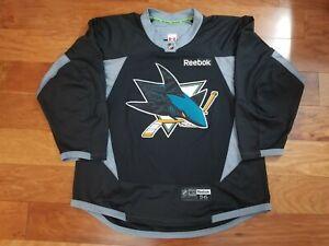 NHL San Jose Sharks Black Reebok Edge 3.0 Authentic Practice Hockey Jersey - 56