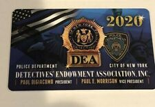 1 NEW NYPD PBA Card DEA Card 2020