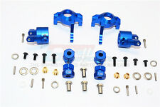 Axial RR10 Bomber Aluminum Front C-Hub & Knuckle Arm (5 Degree Caster) - Blue