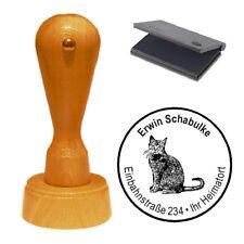 Stempel « Katze 03 » Adressenstempel Motivstempel Holzstempel
