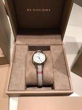 NWT Burberry BU10201 Women's Gold Tone Petite Classic Leather Watch 26mm $795
