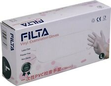 More details for disposable clear vinyl gloves for catering powder free latex free 100pk