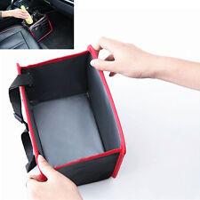 Auto Car Waste Basket Trash Can Bin Storage Bag Collapsible Box Easy Clean Black