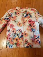 New ZARA girls floral jacket size 13-14 made in Vietnam