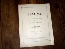 psaume à 4 voix mixtes avec accompagnement d'orgue 1932 A. Ravizé