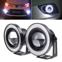 """3.5"""" LED Auto Nebelleuchte Zusatzscheinwerfer Weiß Standlichtringe 12V Universal"""