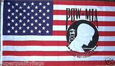 U.S. POW MIA USA MILITARY FLAG NEW 3X5 ft au