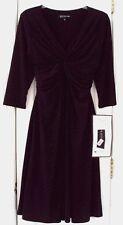 NEW TAG! MACY'S JONES NEW YORK (PETITES) 8P KNOTTED V-NECK A-LINE SPANDEX DRESS