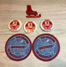 Lot: 3Ice Capades PinButton 2Sew On skating Patches Red Boot Ornament Circa 1980