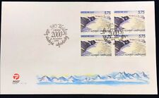Greenland Post Official FDC 1999.11.11. Millennium - Y2k - Block of Four