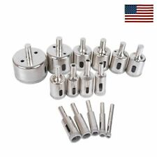 15pcs Diamond Drill Bit Set 6mm-50mm Tile Marble Glass Ceramic Hole Saw Drill HO