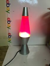"VINTAGE 14"" LAVA LAMP-MOTION LAMP-ORANGE LAVA"